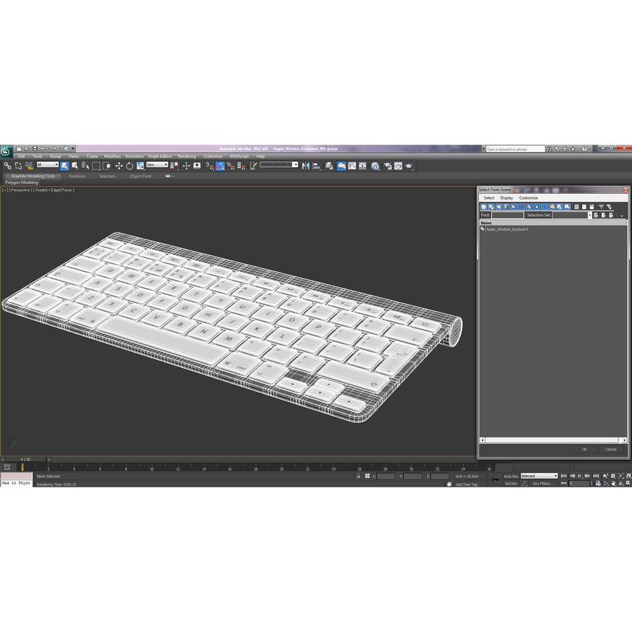 Apple Wireless Keyboard 3D 모델 royalty-free 3d model - Preview no. 20