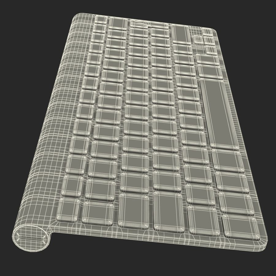 Apple Wireless Keyboard 3D 모델 royalty-free 3d model - Preview no. 27