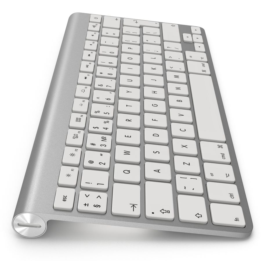 Apple Wireless Keyboard 3D 모델 royalty-free 3d model - Preview no. 15