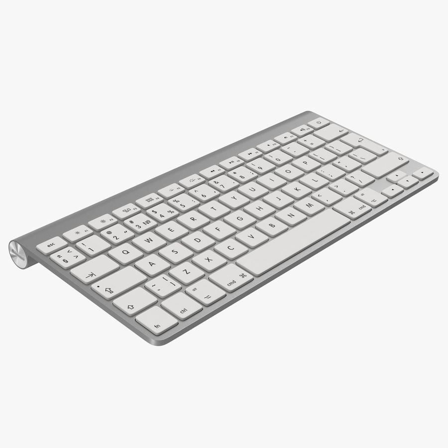 Apple Wireless Keyboard 3D 모델 royalty-free 3d model - Preview no. 1