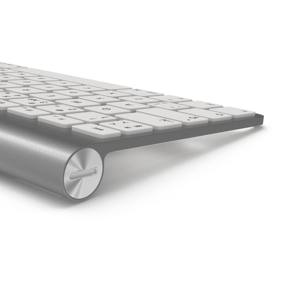 Apple Wireless Keyboard 3D 모델 royalty-free 3d model - Preview no. 10