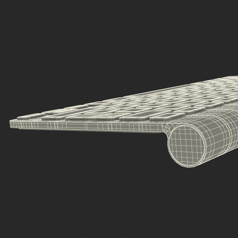 Apple Wireless Keyboard 3D 모델 royalty-free 3d model - Preview no. 24