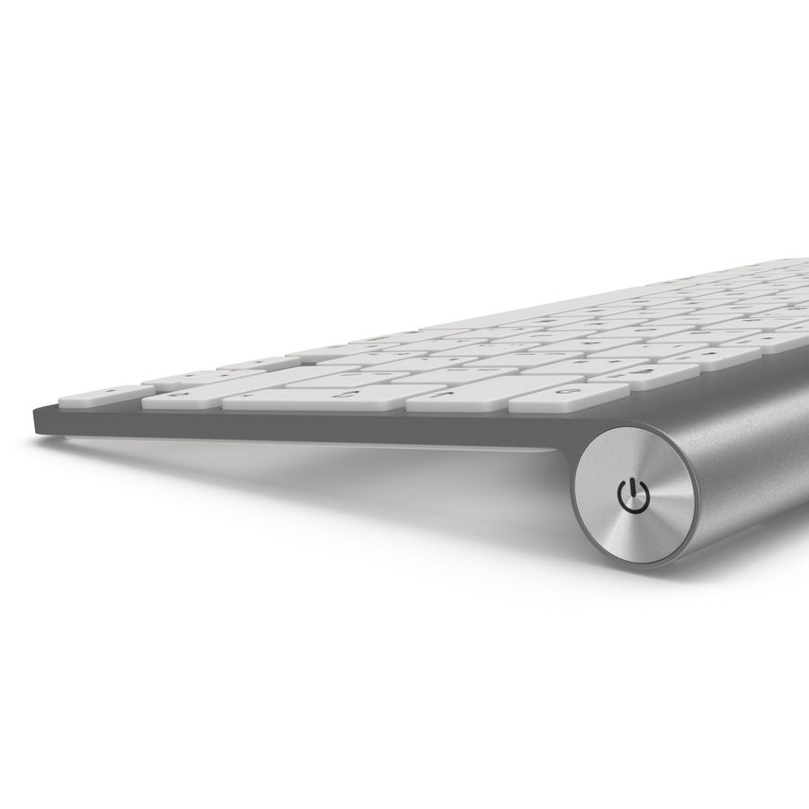 Apple Wireless Keyboard 3D 모델 royalty-free 3d model - Preview no. 9