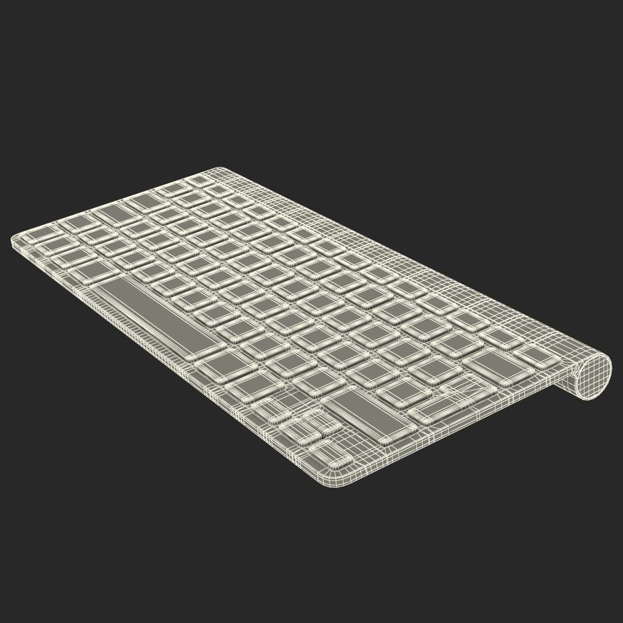 Apple Wireless Keyboard 3D 모델 royalty-free 3d model - Preview no. 21