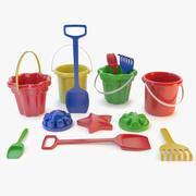 brinquedos de areia 3d model