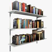 Boeken op planken 3d model