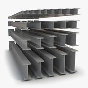 HEB beams pack v2 3d model