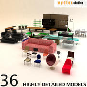 Collections de meubles 3d model