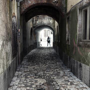 Calle vieja de la ciudad modelo 3d