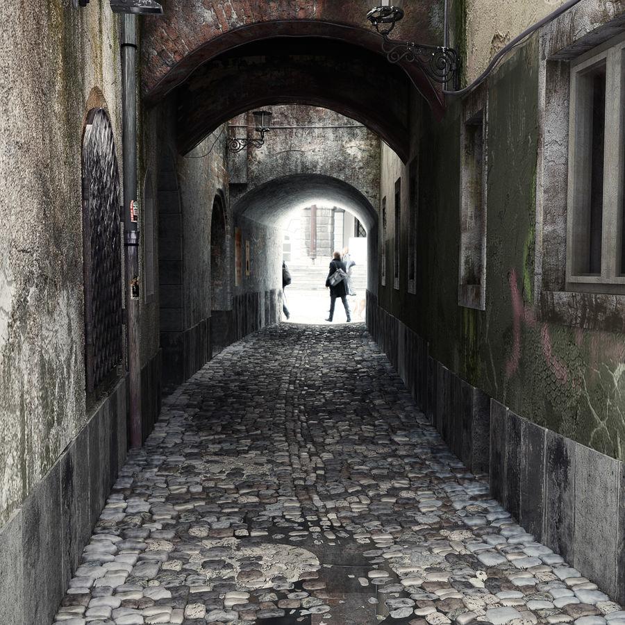 Calle vieja de la ciudad royalty-free modelo 3d - Preview no. 1