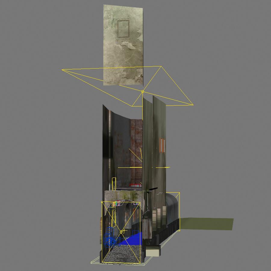 Calle vieja de la ciudad royalty-free modelo 3d - Preview no. 3