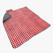 Picnic Blanket Red 3d model