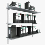 Office Shelves With Folders 3d model
