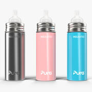 Pura Kiki Insulated Infant Bottle 9OZ 4 in 1 3d model