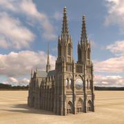 Gotische kathedraal 3d model