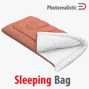 Sleeping Bag Brown 3D Model 3d model