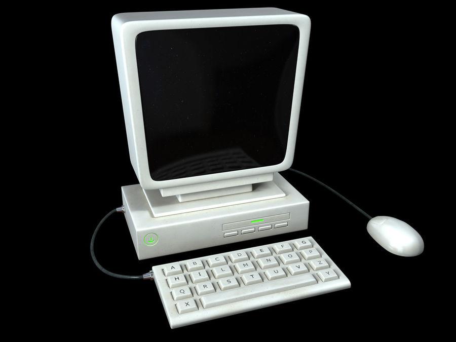 karikatür bilgisayar bilgisayarı royalty-free 3d model - Preview no. 2
