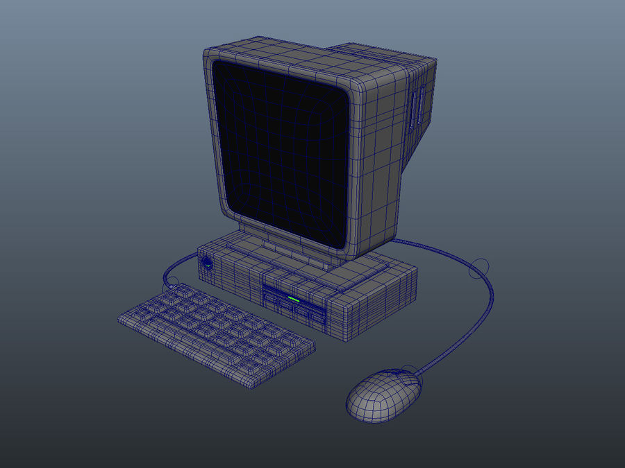 tecknad PC-dator royalty-free 3d model - Preview no. 7