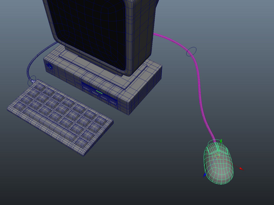 karikatür bilgisayar bilgisayarı royalty-free 3d model - Preview no. 11
