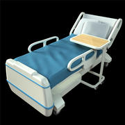 cartoon hospital bed 3d model