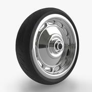 Wheel Tyre Moto Bike 3d model