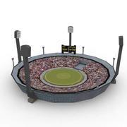 cricket stade_game prêt 3d model