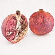 Pomegranate Half 3d model