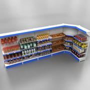 Hyllor med produkter 3d model