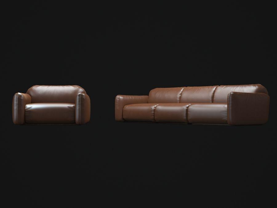 piumotto-busnelli-soffa royalty-free 3d model - Preview no. 6