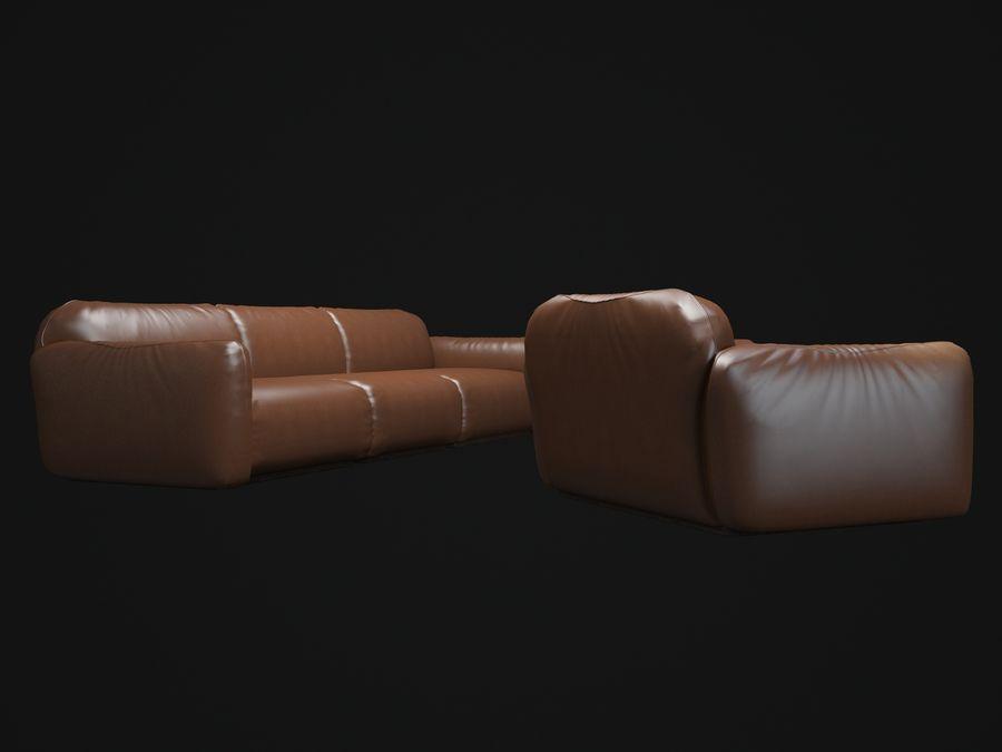 piumotto-busnelli-soffa royalty-free 3d model - Preview no. 4