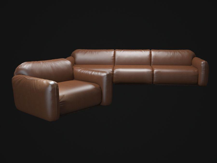 piumotto-busnelli-soffa royalty-free 3d model - Preview no. 2