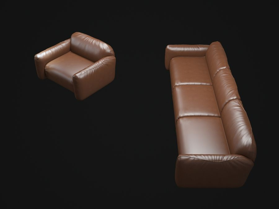 piumotto-busnelli- 소파 royalty-free 3d model - Preview no. 7