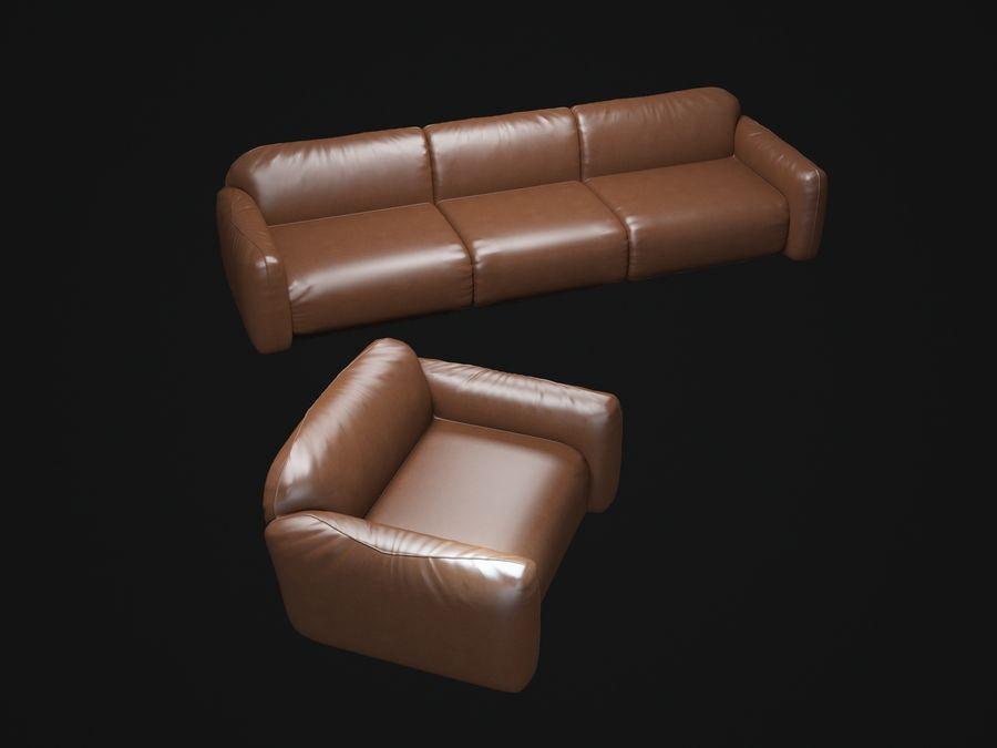 piumotto-busnelli-soffa royalty-free 3d model - Preview no. 3