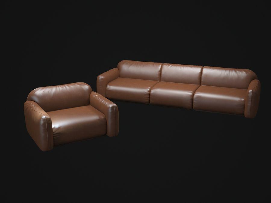 piumotto-busnelli-soffa royalty-free 3d model - Preview no. 8