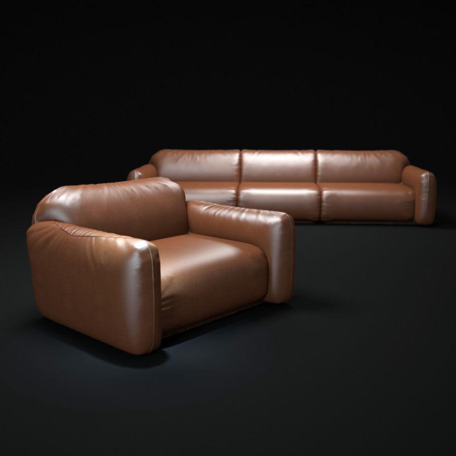 piumotto-busnelli-soffa royalty-free 3d model - Preview no. 1