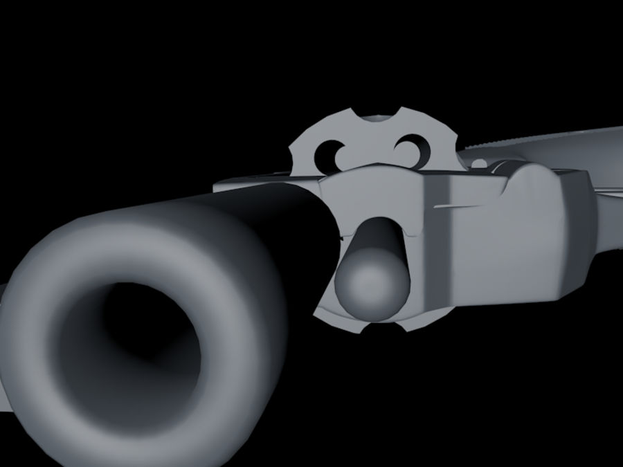 revolver royalty-free 3d model - Preview no. 5