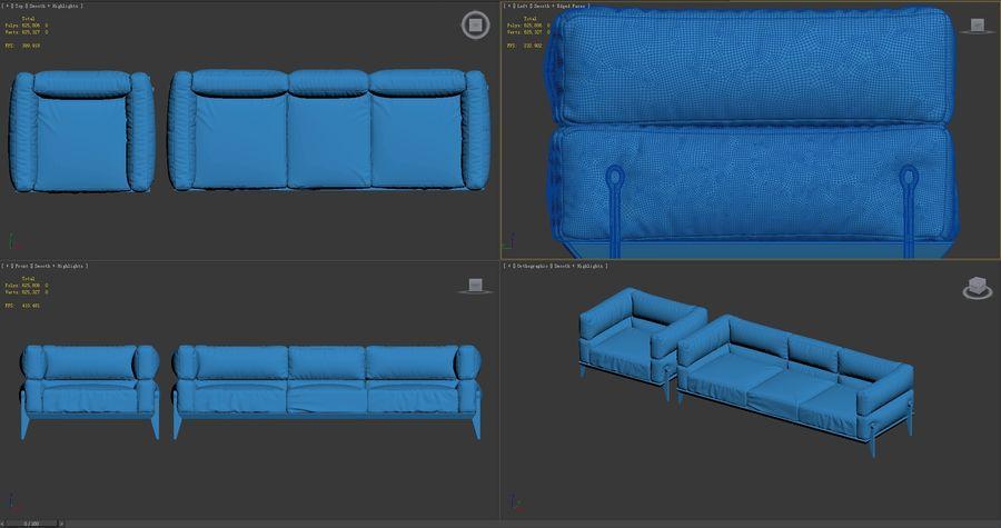 AGO-sofa royalty-free 3d model - Preview no. 9