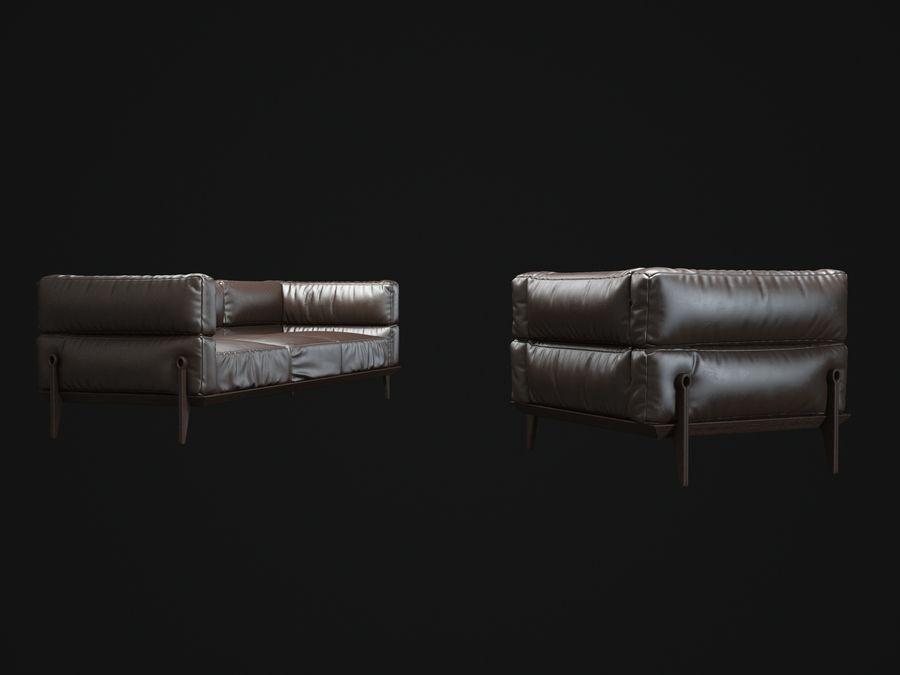 AGO-sofa royalty-free 3d model - Preview no. 4