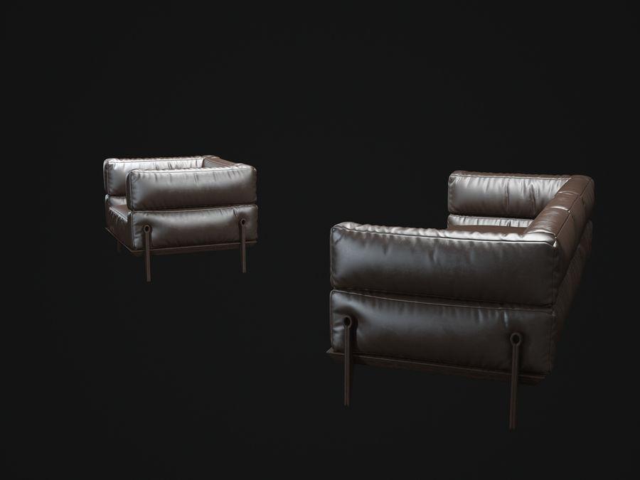 AGO-sofa royalty-free 3d model - Preview no. 5