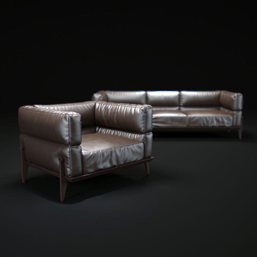 AGO-sofa royalty-free 3d model - Preview no. 1