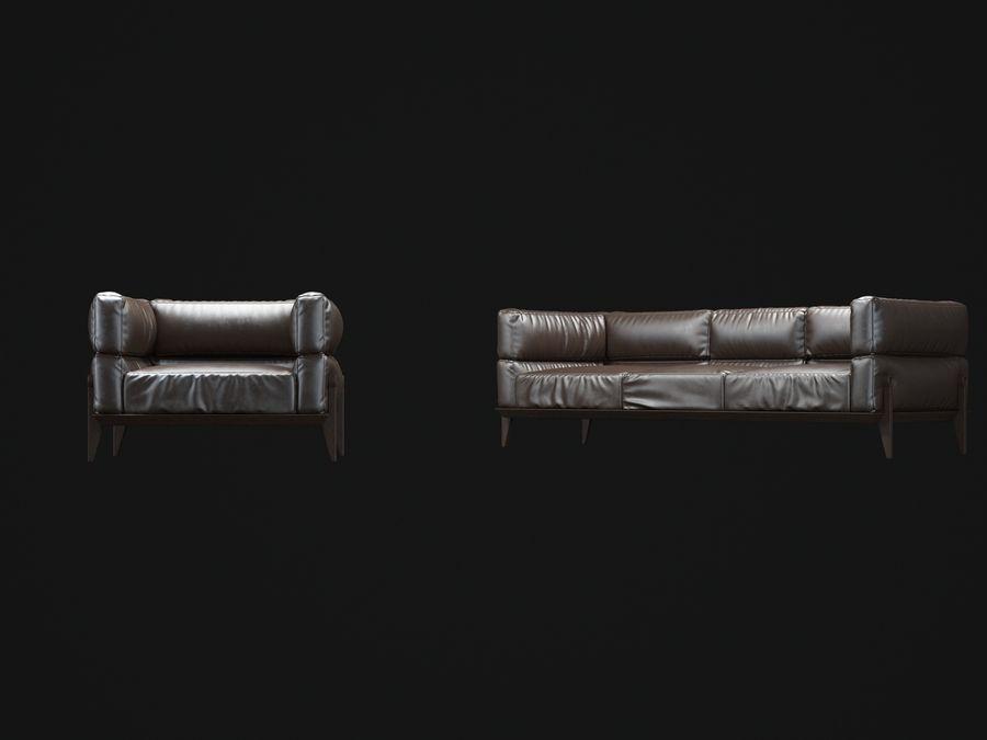AGO-sofa royalty-free 3d model - Preview no. 6