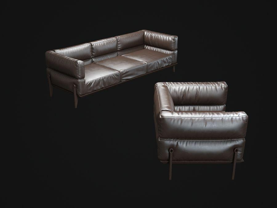 AGO-sofa royalty-free 3d model - Preview no. 8