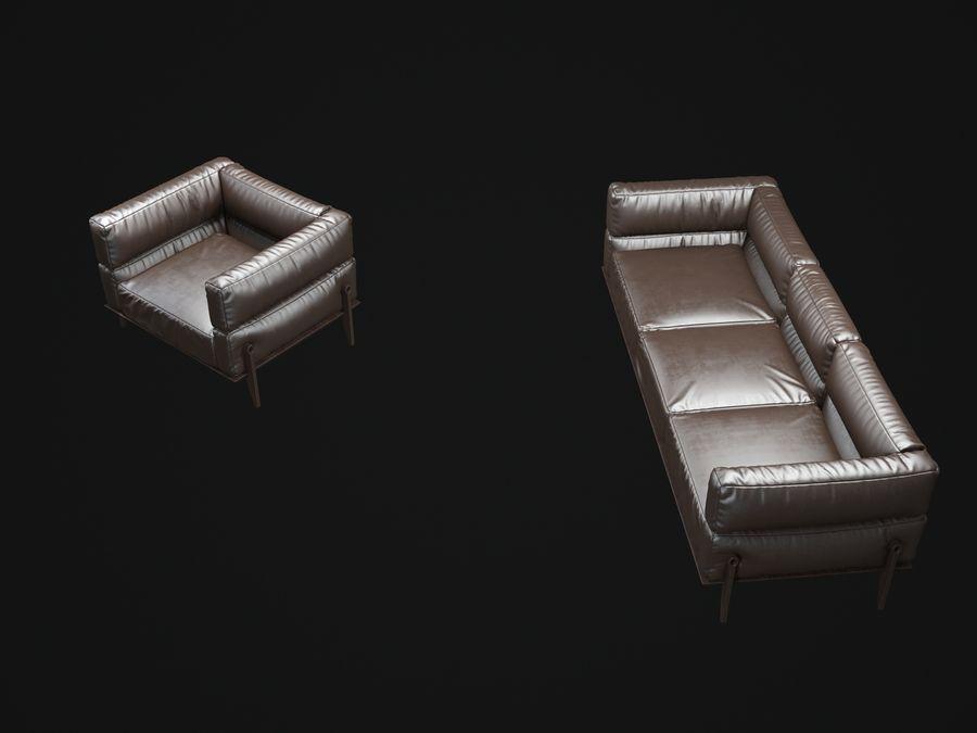 AGO-sofa royalty-free 3d model - Preview no. 7