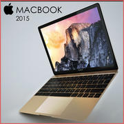 苹果MacBook 2015 3d model