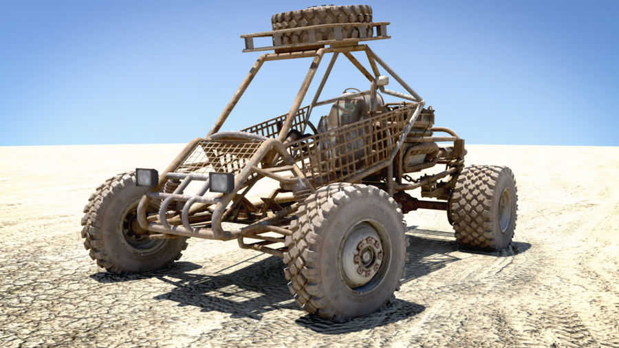 Dune Buggy royalty-free 3d model - Preview no. 2