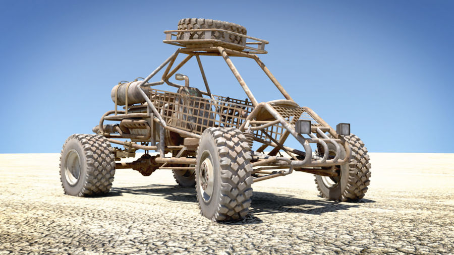 Dune Buggy royalty-free 3d model - Preview no. 3