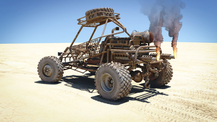 Dune Buggy royalty-free 3d model - Preview no. 9