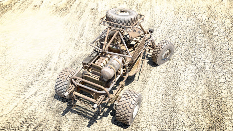 Dune Buggy royalty-free 3d model - Preview no. 5