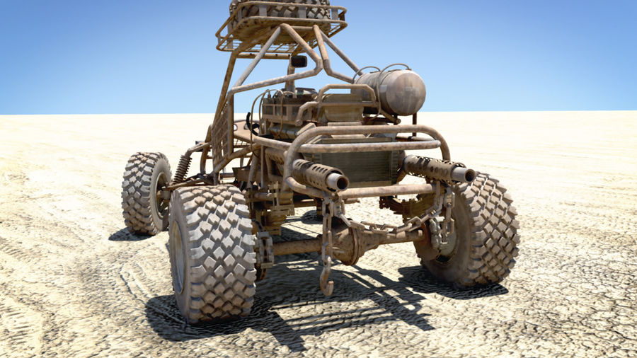 Dune Buggy royalty-free 3d model - Preview no. 7