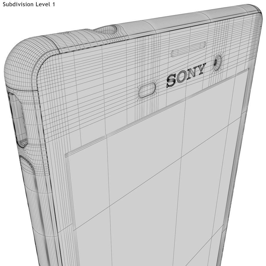 Sony Xperia M4 Aqua Black royalty-free 3d model - Preview no. 25